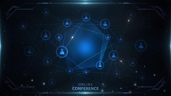 Online Conference Background Blue 4k Loop