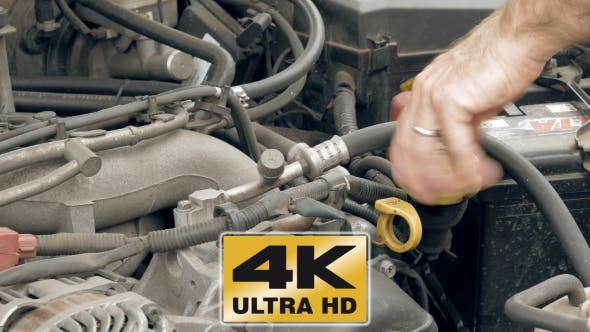 Thumbnail for Auto Mechanic Pours Additional Motor Engine Oil