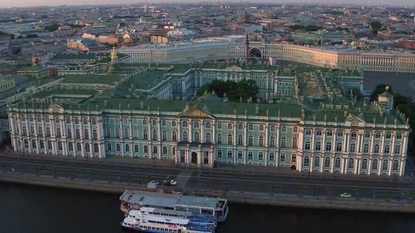 Thumbnail for Aerial Over Hermitage In Saint Petersburg