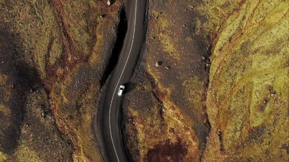 Thumbnail for Car Driving Through Icelandic Landscape