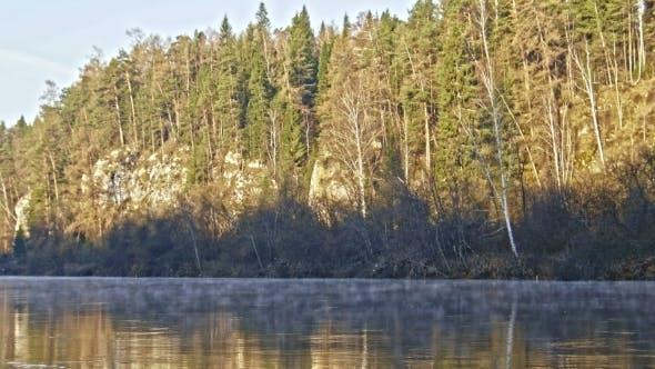 Thumbnail for Veiw Of Mountain Misty River Landscape