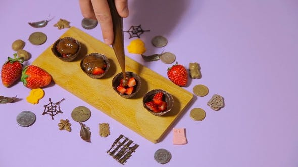Thumbnail for The Decoration Of Chocolate Tartlets