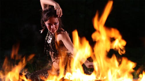 Passionate Dance on Fire