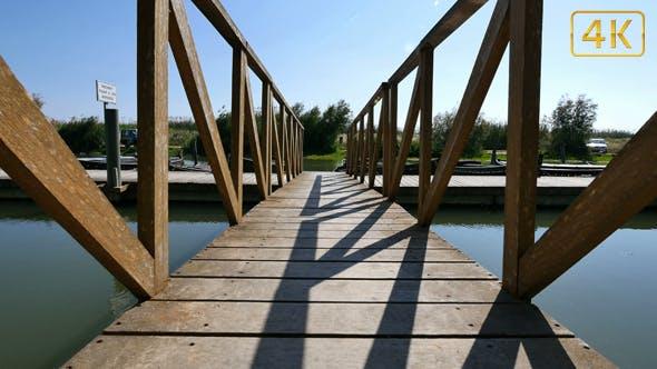Thumbnail for Walking Across the Wooden Bridge till the Jetty 4K