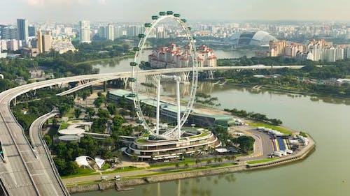 Time Lapse of the Singapore ferris wheel