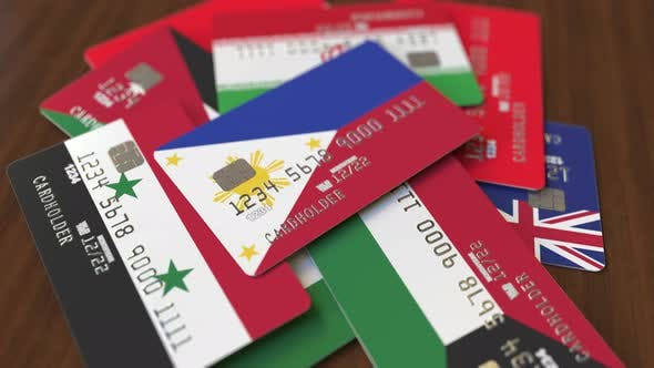 Thumbnail for Emphasized Bank Card with Flag of Philippines