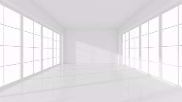 The white empty room