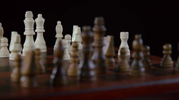 Thumbnail for Chessboard And Chess Pieces In The Middle Of The Game 03