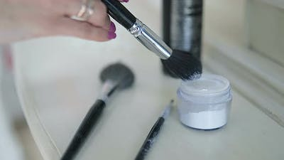 Brushes and Powder for Makeup