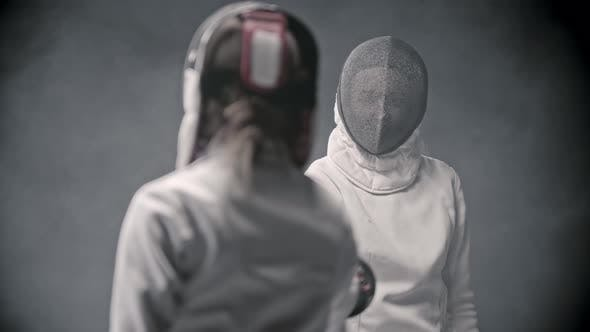Thumbnail for Fencing Training - Two Women Greeting Each Other Before the Duel