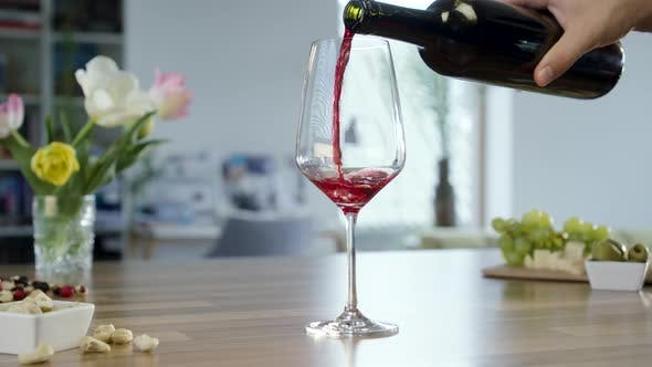 Thumbnail for Pouring Red Wine In To Glass