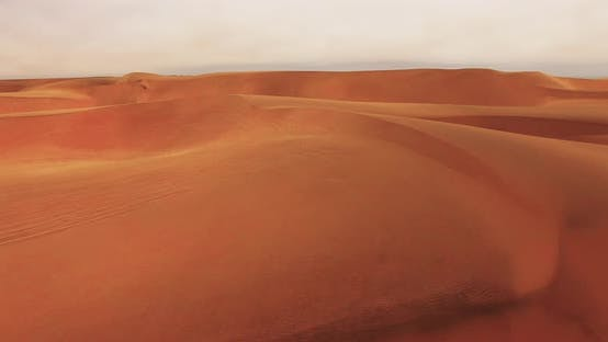 Thumbnail for Aerial View of Endless Sand Dunes of the Namib Desert Inside the Namib-Naukluft National Park