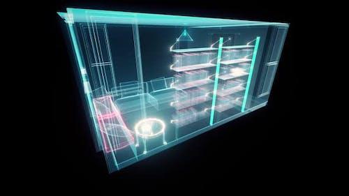 Digital Cozy Room Hud Hologram Hd