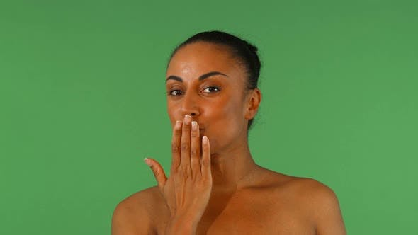 Thumbnail for African Woman Blowing Kisses To the Camera