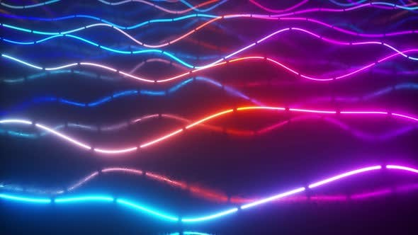 Thumbnail for Futuristic Neon Glowing Surface Made of Bright Lines