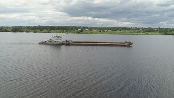 Thumbnail for Barge on the River Volga