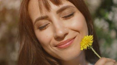 Portrait of a Woman with Dandelion