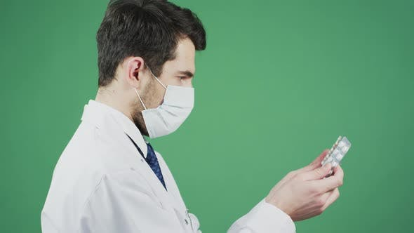 Thumbnail for Taking pills from a doctor