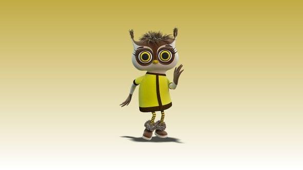 Owlet Betty dancing salsa