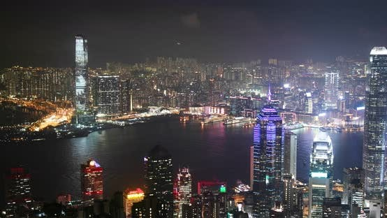 Thumbnail for Hong Kong skyline at night