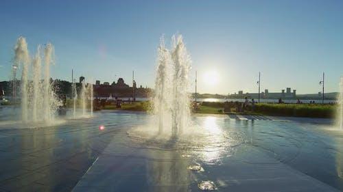 Fontaine du Quai Paquet water jets