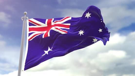 Thumbnail for Realistic Australia Flag Slow Motion 4K