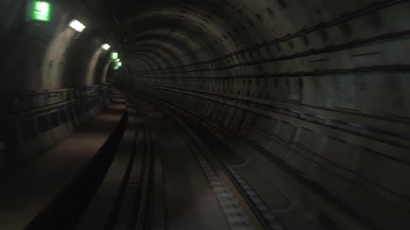 Thumbnail for Shot of Train Goes Underground Subway