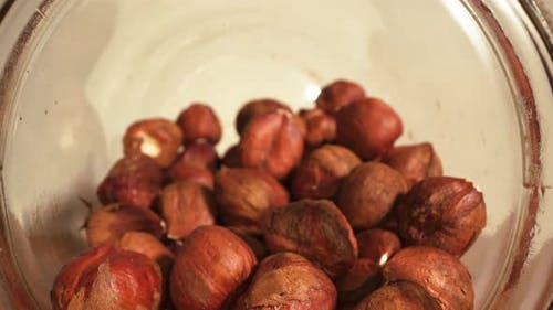 Hazelnuts in a Glass Jar