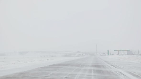 Thumbnail for Snowstorm On Highway