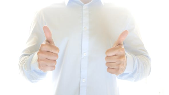 Thumbnail for Businessman Thumbs up, Both Hand