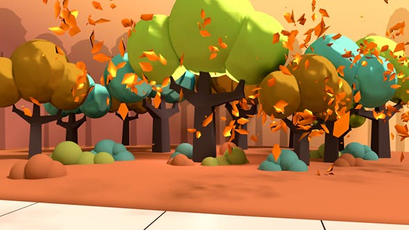 Cover Image for Toon Autumn Leaves Falling In The Park
