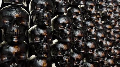 Wall of Textured Skulls