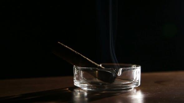 Thumbnail for Smoking Cigar In An Ashtray.