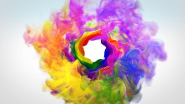 Thumbnail for Logo de humo colorido Revelar