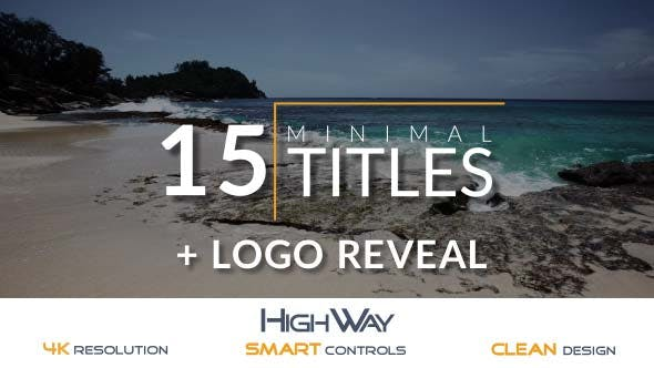 Thumbnail for 15 Minimal Titles Pack + Logo Reveal