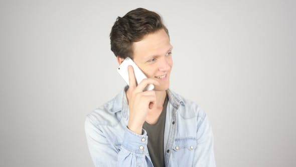 Cover Image for Young Boy Talking on Phone