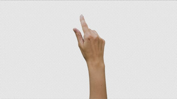 Thumbnail for 14 Footage Female Hand Gestures Touchscreen