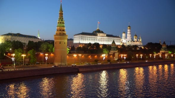 Thumbnail for Moscow Night View Of The Kremlin