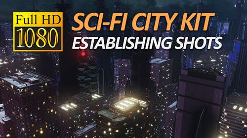 Sci-Fi City Pack - Establishing Shots (1080P)