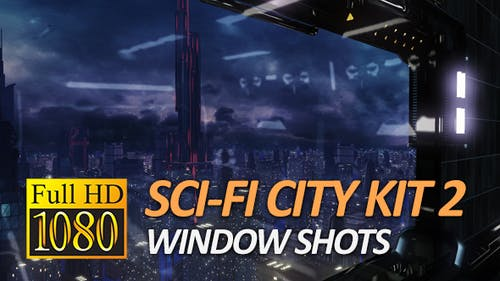 Sci-Fi City Pack 2 - Window Shots (1080P)