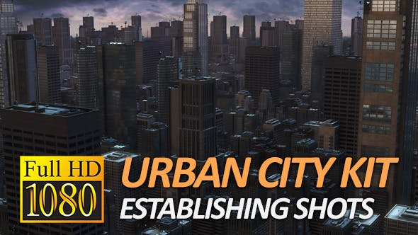 Urban City Pack - Establishing Shots (1080P)