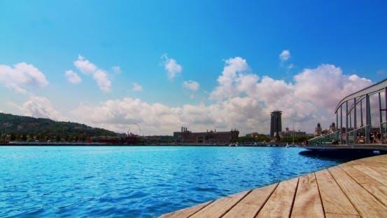 Thumbnail for Hafen von Barcelona. Port Vell - Marina In Barcelona, Spanien. Seehafen