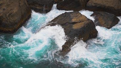 Waves Hitting the Sea Shore