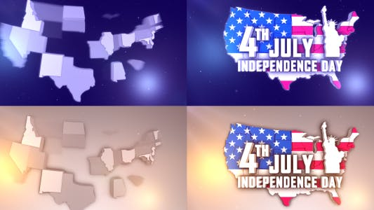 Thumbnail for USA States Patriotic Logo