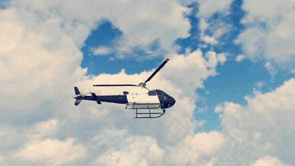 3D Realistic Police Helicopter