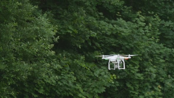 Quadcopter With Camera Flying