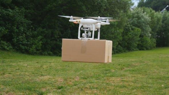 Thumbnail for Drone Delivers Parcel
