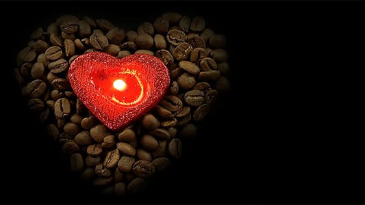 Thumbnail for Heart Shaped Coffee Beans and Red Heart Candle