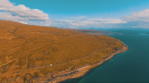 Flying Over a Lake In Scotland