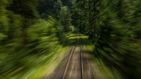 Thumbnail for Train Moving Along Railroads In Deep Mountains 1